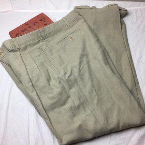 Savane Deep Dye Casual Pants Pleated Cuffed 36x34